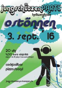Plakat Jungschützenparty 2016